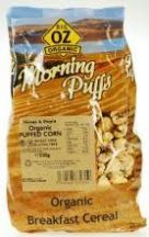 Big Oz  Organic Corn Morning Puffs  (250g)