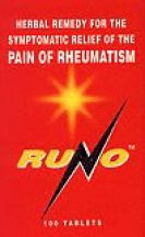 Bio Health  Runo - for the symptomatic RELIEF of the PAIN of RHEUMATISM  (100 tabs)
