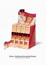Biosun  Traditional Ear Candles Display Case  (DISPLAY CASE 20 pairs)
