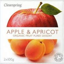 Clearspring  Organic Apple apricot Puree  (2x100g)