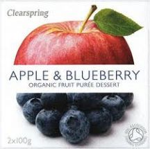 Clearspring  Organic Apple blueberry Puree  (2x100g)