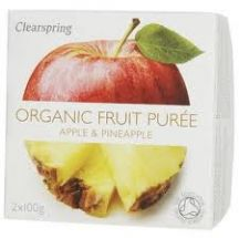 Clearspring  Organic Apple Pineapple Puree  (2x100g)