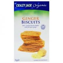 Crazy Jack  Ginger Butter Biscuits  (12X75G)