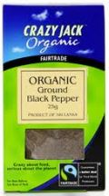 Crazy Jack  Ground Black Pepper  (6 X 25G)