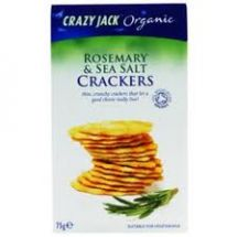 Crazy Jack  Rosemary Seasalt Crackers  (12X75G)