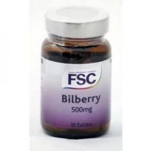 FSC  Bilberry 500mg  (30 tabs)