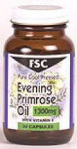 FSC  Evening Primrose Oil 1300mg 10% GLA  (30 caps)