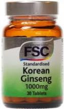 FSC  Korean Ginseng 600mg  (30 tabs)