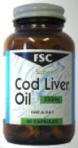FSC  Super Cod Liver Oil 550mg  (180 caps)