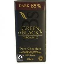 Green and Blacks  Organic Dark Choc 85% Cocoa  (15 x 100g)