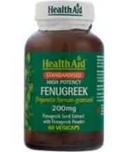 Health Aid  Fenugreek 200mg Vegi Caps  (60s)