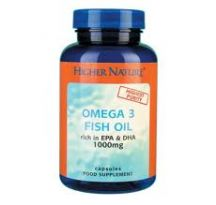 Higher Nature  Omega 3 Fish Oil 1000mg  (180caps)