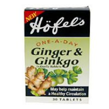 Hofels  Ginger & Ginkgo in Garlic.  (30 caps)