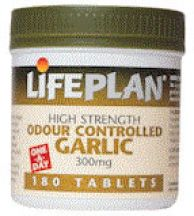 Lifeplan  Happy Garlic Odour Controlled 300mg  (180 tabs)