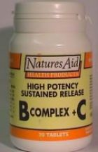 Natures Aid  High Potency B Complex Plus C  (90 tabs)