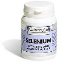 Natures Aid  Selenium With Zinc and Vtimains A, C & E  (30 tabs)