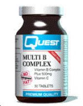 Quest Vitamins  Multi B Complex Plus 500mg Vitamin C  (60 tabs)