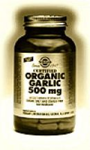 Solgar  Certified Organic Garlic 500mg  (90 vegicaps)